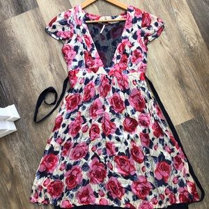 FREE PEOPLE Floral Print Dress Sz 4